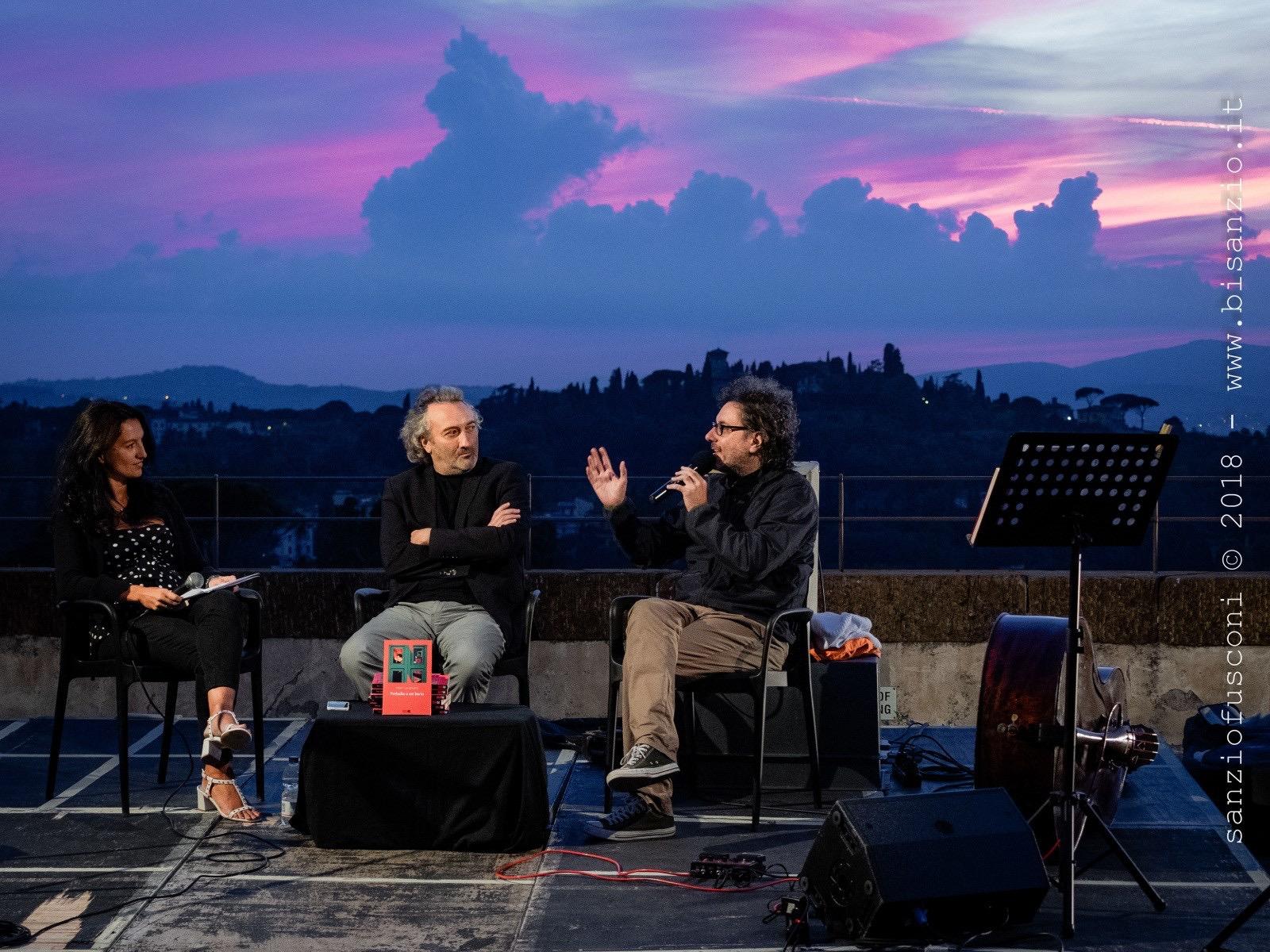 Alessandra con Toni Laudadio e Ferruccio Spinetti